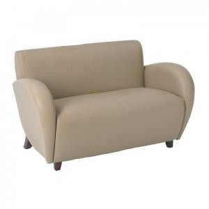OSP Designs SL2472-EC11 - Eleganza Taupe Eco Leather Love Seat